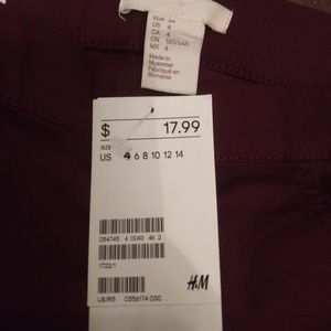 H&M Jeans - H&M Maroon Jeans Size 4 NWT